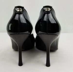 Gucci Black Patent Leather Heels Pumps size 7 B